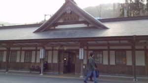 城戸南蔵院前駅、駅舎。